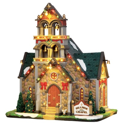 Lemax Hillside Bell Chapel - Lighted Building (45729)