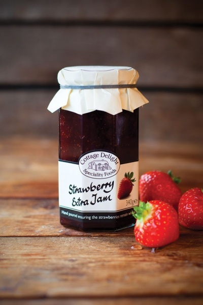 Cottage Delight Strawberry Jam With Extra  Jam - 340g