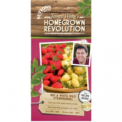 Suttons James Wong Homegrown Revolution - Red & White Wild Strawberries