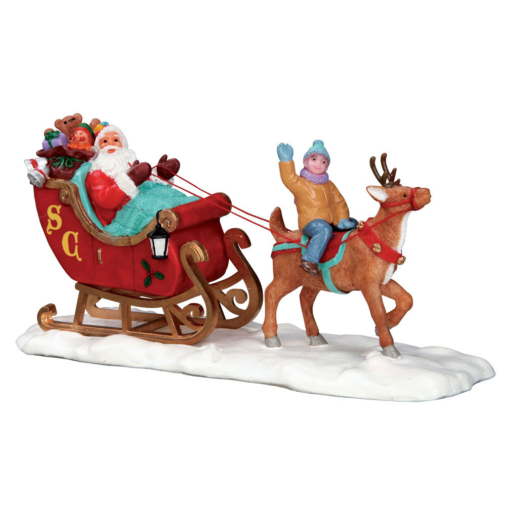 Lemax Santa's Sleigh - Table Accent (53210) - Bosworths ...