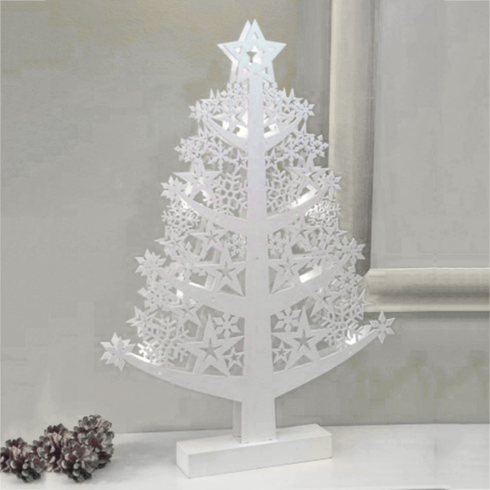 Noma® Wooden Star Lit Christmas Tree - Warm White LEDs (1114011) - Bosworths Online Shop