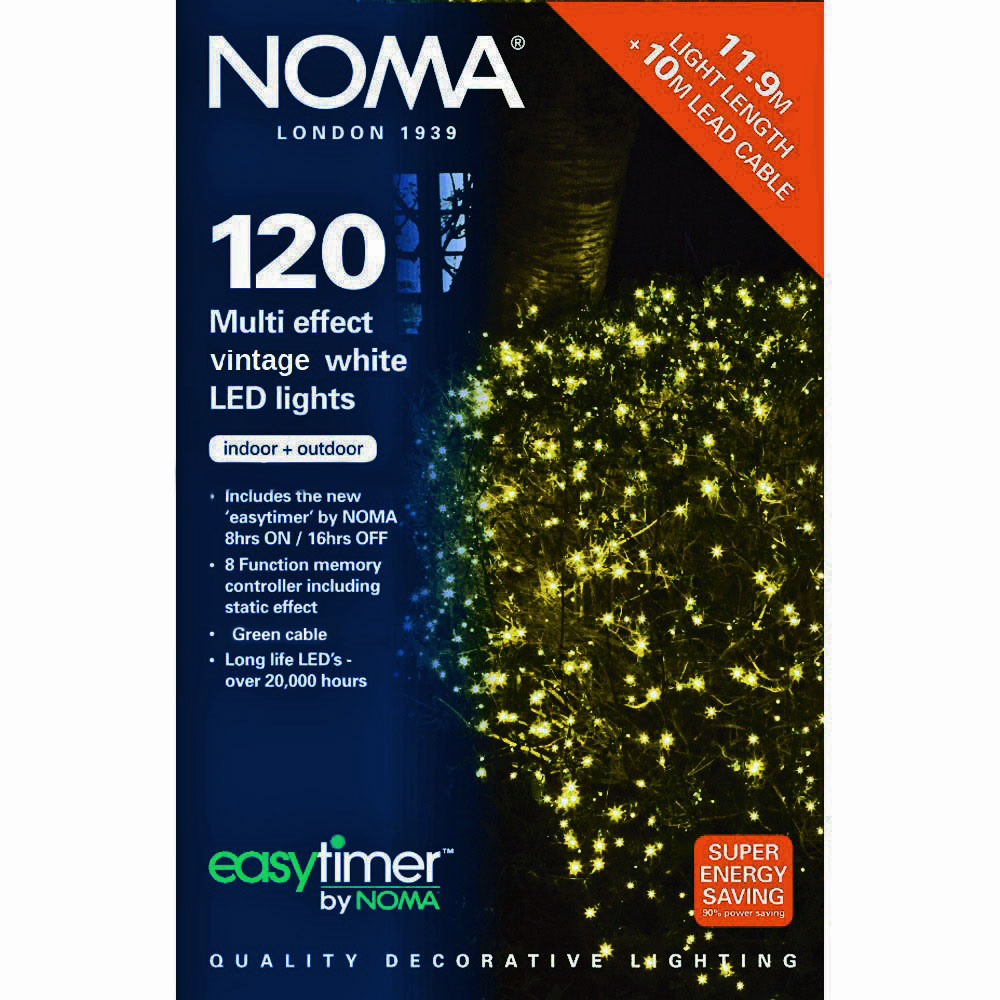 Noma Led Shop Light Review: Noma® 120 Antique White Multi Effect LED Lights