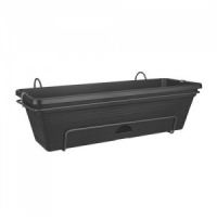 Elho Provence Balcony Trough 50cm All-In-One (Green Basics) - Black
