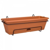Elho Provence Balcony Trough 50cm All-In-One (Green Basics) - Terracotta