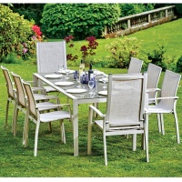 Supremo Veneto 8 Seat Reclining Dining Set
