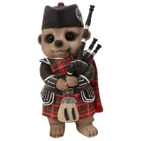 Vivid Arts Pet Pals Baby Meerkat Scottish Bagpiper Size 'D'
