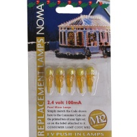 Noma® 2.4v 100mA Amber Pearl Micro MB2 Push In Bulbs Pack of 5 (0156AA)