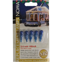 Noma® 2.4v 100mA Blue Pearl Micro MB2 Push In Bulbs Pack of 5 (0156BB)