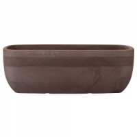 Stewart Aztec Trough Planter 80cm - Dark Brown