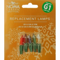 Noma® G1 6V Replacement M/Colour Lamps 4 Pack & 5V Fuse (0344M)