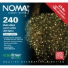 Noma® 240 Warm White Multi Effect LED Lights - Clear Cable (8724CWW)