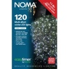 Noma® 120 White Multi Effect LED Lights - Green Cable (8712GW)