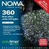 Noma® 360 White Multi Effect LED Lights - Green Cable (8736GW)