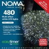 Noma® 480 White Multi Effect LED Lights - Green Cable (8748GW)