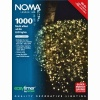 Noma® 1000 White Multi Effect LED Lights - Green Cable (8701GW)
