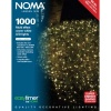 Noma® 1000 Warm White Multi Effect LED Lights - Green Cable (8701GWW)