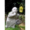 Pheeberts Stone Garden Statue -  Tom The Sneak & Lantern (PGS013)
