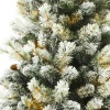Puleo Slim Snowy Cone Pine 6.5ft Artificial Christmas Tree