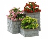 Lemax Flower Bed Boxes - Accessory - Set of 3 (84380)
