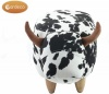 Gardeco Footstool Lulu The Cow Black & White