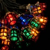 Noma® 40 Victorian Lanterns Christmas Lights Multicolour/Green Cable (4611)