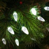 Noma Faceted Cone 100 LED White Lights Garland - Green Cable (8264GW)