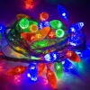 Noma Faceted Cone 100 LED Multi Colour Lights Garland - Green Cable (8264GM)