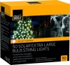 Cole and Bright 50 LED Solar Extra Large String Lights