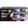 Noma Faceted Cone 100 LED White Lights Garland - Clear Cable (8264CW)