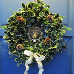 Fresh Holly Wreaths