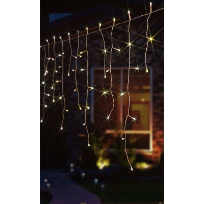 Noma® Snowing Icicle Lights 144 Soft White LEDs (2515079WSW)