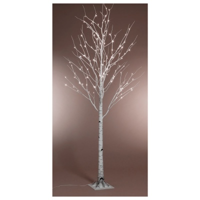Kaemingk Pre-Lit Paper Birch Christmas Tree 6ft (1.8m) Cool White (499177)