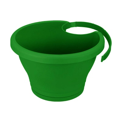 Elho Corsica Drainpipe Clicker Pot Planter - Forest Green