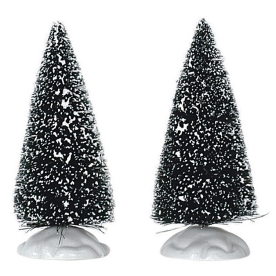 Lemax Bristle Tree Small 4'' Tall - Accessory - Set of 2 (14004)