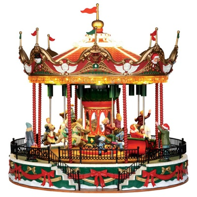 Lemax Santa Carousel - Sights & Sounds Table Piece (34682)