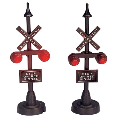 Lemax Railway Stop Light - Accessory Set of 2 (34954)