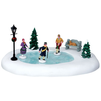 Lemax Skating In The Park - Table Accent - Set of 8 (44768)