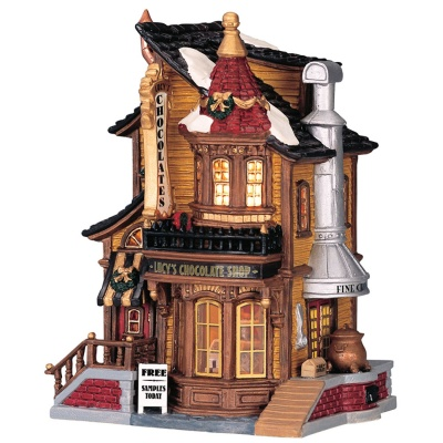 Lemax Lucy's Chocolate Shop - Lighted Building (45052)