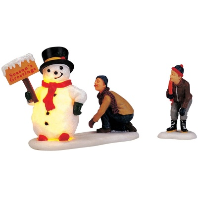 Lemax Frosty's Friendly Greeting Lighted Accessory - Set of 2 (04511)