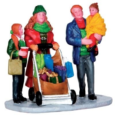 Lemax Christmas Shopping With Mom and Dad - Figurines  (32152)