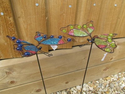Joli Jardin Three Tone Glitter Butterfly on sticks