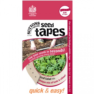 Suttons Seed Tapes  - Leaf Salad Mix