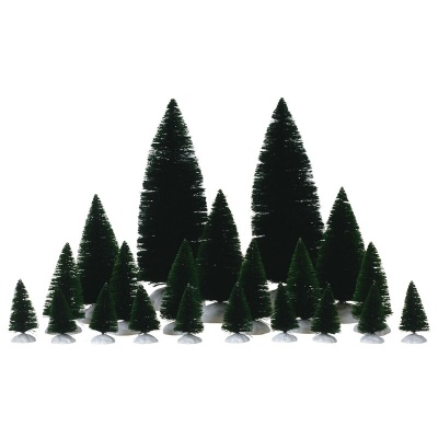 Lemax Assorted Fir Trees - Accessory - Set of 21 (74691)
