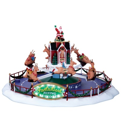 Lemax Reindeer On Holiday - Sights & Sounds Table Piece (64058)