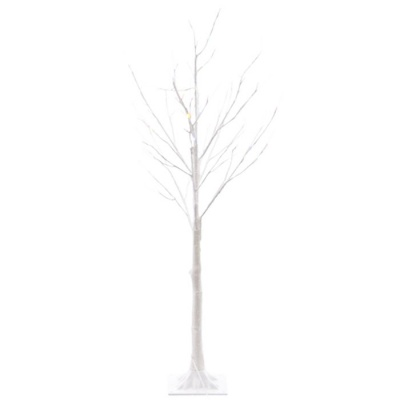 Kaemingk Pre-Lit White Christmas Tree 6ft (1.8m) Multi Colour LEDs (499367)