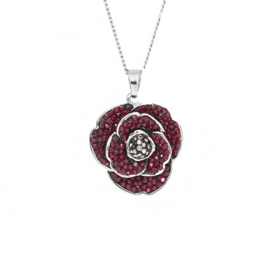 Espree 'Remember Me' Crystal Poppy Pendant
