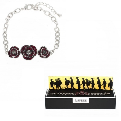 Espree 'Remember Me' Crystal Poppy Bracelet