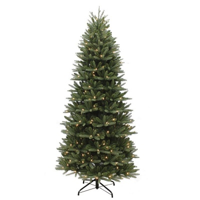 Puleo Slim Washington Valley Spruce Pre-Lit 6.5ft Artificial Christmas Tree PE/PVC