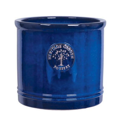 Woodlodge Edwardian Blue Cylinder Pot No.3