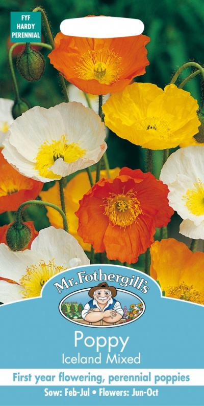 Mr Fothergills Poppy Iceland Mixed Seeds
